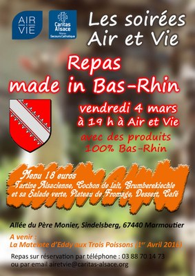Soiree made in Alsace 4mars 2016